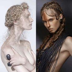 It's a #goddesses duel – the measure of a heroine is always her #nemesis Hair by Class | Photo by Stefano Bidini #esteticalikes #braids #braidideas #hairfashion