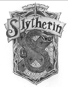 Slytherin Logo 18 x 24 - graphite, amazing art. Sneaky bastards( in movies snake is in  backward S pose)