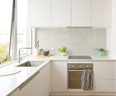 White and marble kitchen nz