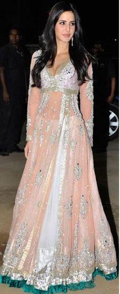 katrina Kaif Bollywood Actress Anarkali Suits Design 2015 (2)