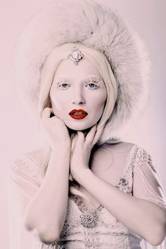 Ice Queen and her fur hat