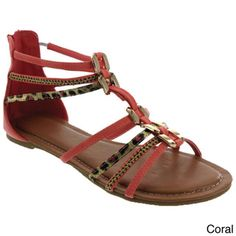 MACHI Women's Ankle Strappy Gladiator Sandals | Overstock.com Shopping - Great Deals on MACHI Sandals