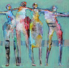 Nieuw in mijn Werk aan de Muur shop: Dance people 2