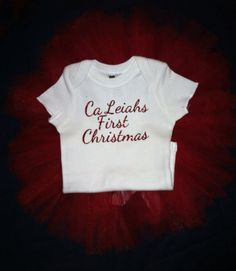 Babies first Christmas tutu on Etsy, $25.00