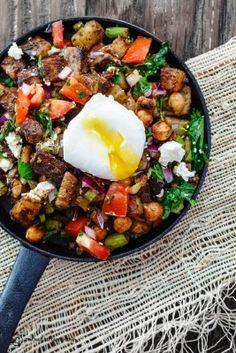 Mediterranean Potato Hash with Asparagus, Chickpeas and Poached Eggs | The Mediterranean Dish