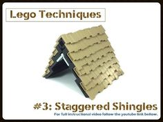 Lego Techniques: #3 Staggered Shingles - YouTube