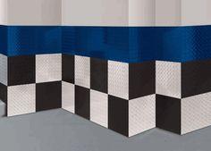 Blue Black and Ice 4\u0027x18\u0027 Diamond Plate Aluminum Wall Tiles & Chrome Diamond Plate plastic sheets for walls | Diamond Plate ...