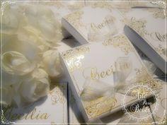 Com capricho e carinho para Cecília  Muito delicado!  Mais detalhes aqui:  http://bit.ly/caixaluxo