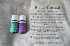Make a sleep cream with Peace & Calming and Lavender Young Living essential oils, to help you and your little ones sleep better.