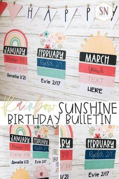 Preschool Birthday Board, Classroom Birthday, 4th Grade Classroom, New Classroom, Classroom Setup, Classroom Organization, Valentine Bulletin Boards, Birthday Bulletin Boards, Free Preschool
