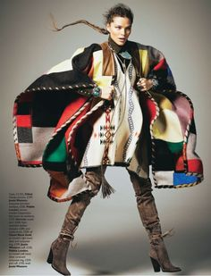 Chloe Patchwork Cape