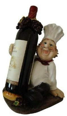Italian fat chef wine holder + matching toothpick holder bistro by EST GIFTLAND. $27.95. Perfect for Dining Room. Made of Poly-Resin. Wonderful Gift For Family And Friends.. Italian fat chef wine holder. Toothpick Holder. Italian fat chef wine & toothpick holder, hand painted