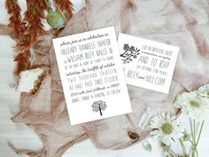 Qty 25 - Owl Wedding Invitation, Wedding Invitations, Backyard Wedding, Backyard Wedding Invites, Hand Lettered Invites
