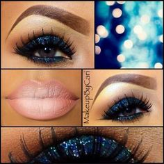 blue smoky eye, love it!