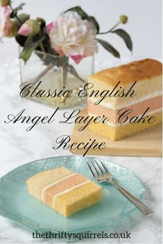 Our recipe for this Classic English Angel Layer Cake. More than just a simple sponge - our readers say our recipe is better than shop bought! Layer Cake Recipes, Sponge Cake Recipes, English Cake Recipe, Tea Cakes, Food Cakes, Buy Cake, Desserts Menu, British Baking, Buttercream Recipe