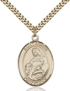 St. Agnes Of Rome Gold Filled 1""