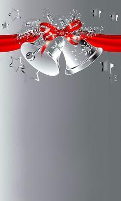 Wallpaper… By Artist Unknown… – bilderrahmen Christmas Frames, Christmas Scenes, Silver Christmas, Christmas Bells, Christmas Wishes, Christmas Pictures, Christmas Greetings, Christmas Paper, Christmas Holidays