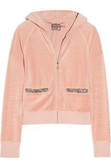Crystal embellished velour hoodie.. Love