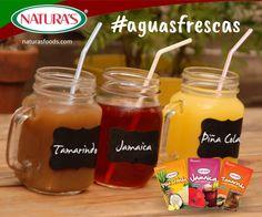 Refreshing drinks. Aguas Frescas. Tamarind, Hibiscus, Piña Colada