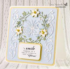 Pretty card featuring Memory Box dies