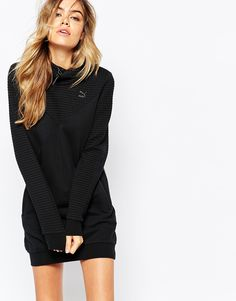 Puma Quilted Hooded Sweatshirt Dress