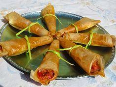 Cucuruchos primavera Ana Sevilla cocina tradicional Mexican Food Recipes, Ethnic Recipes, Spanish Food, Canapes, Omelette, Churros, Fresh Rolls, Great Recipes, Salad Recipes