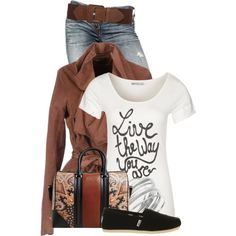"""Jeans & T"" by colierollers on Polyvore"
