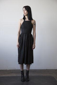 Marion Linen Dress - Black
