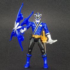 "Power Rangers Samurai Blue WATER RANGER 4"" Action Figure MMPR Bandai 2011 #Bandai"