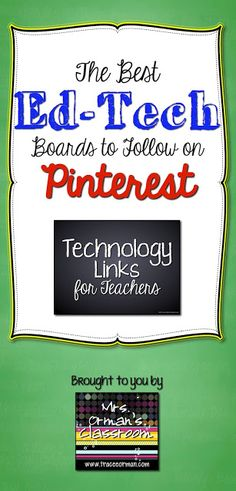 The Best Ed Tech Boards to Follow on Pinterest - My Top 8 @Melissa Spivak. Lirette's Learning Detectives @Charity Scantlebury Preston @Erin B Klein @Toby Mayer -Wan Kenobi @Richard Liu Byrne @WeAreTeachers @Vicki Smallwood Davis
