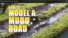 Kathy Millatt, a lady with exquisite talent in diorama, shows us how to model a very convincing muddy road. Thanks to  Kathy…
