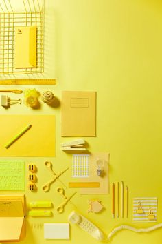 Yellow Office by James Coffey, via Behance