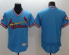 Cardinals Blank Light Blue Flexbase Authentic Collection Cooperstown Stitched MLB Jersey