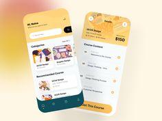 Online Course Platform App by Imran Molla Ux Design, Branding Design, Design Thinking Process, Directory Design, App Design Inspiration, Mobile App Design, Job Opening, Computer Programming, Mobile Application