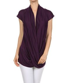 Love this Plum Drape Top - Women on #zulily! #zulilyfinds Today I saw this top being used as early stage maternity top and it was fabulous