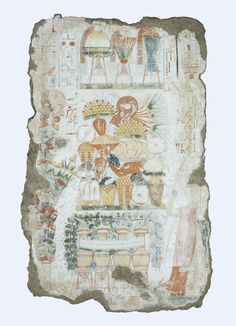 Scene from the Tomb of Nebamun representing offerings c.1350 BC New Kingdom (Source: The British Museum)