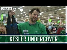 Ryan Kesler surprises shoppers at a Save-On-Foods in North Vancouver. The Vancouver Canucks forward bagged groceries, handed out hockey tickets and jerseys. Vancouver Canucks, North Vancouver, Ryan Kesler, Anaheim Ducks, Undercover, A Good Man, Nhl, Hockey, Passion