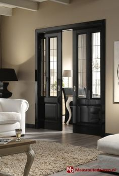 Interior pocket doors really like the frosted glass on these pocket doors to separate office from great room interior pocket doors with glass inserts House Design, Black Interior Doors, House, French Doors, Interior, Home, Windows And Doors, Doors Interior, House Interior