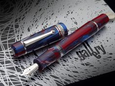 Stationary shop PenLife | Rakuten Global Market: Gallery Blue Moon 2012 Japan unreleased fountain pen piston suction model 14 gold tribute to Jackson Pollock with special resin NPR ton fi ring of Dolce Vita