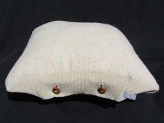 Unique cushion cover / pillow case by Saskia LAUTH [ ҉ ] LAUTHMOTIV http://en.dawanda.com/product/71110915-Kissenhuelle-Stockholm-Wolle-beige-40-x-40-cm