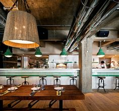 restaurant with industrial look
