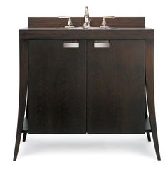 "Cole and Co 11.19.275240.12 Mahogany 40"" Lily Contemporary Chest with New Solid Stainless Steel Hardware from the Designer Collection - FaucetDirect.com"