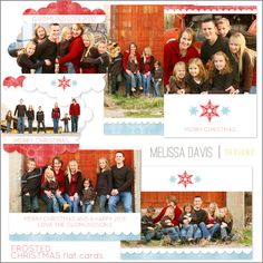 NEW 2012 Frosted Christmas flat template set from Melissa Davis Designs!
