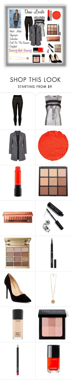 """""""An Outfit Inspired By: Demi Lovato!!!"""" by mariahzinha11 ❤ liked on Polyvore featuring River Island, Paco Rabanne, Givenchy, MAC Cosmetics, Morphe, Urban Decay, Bobbi Brown Cosmetics, Stila, L'Oréal Paris and Liliana"""
