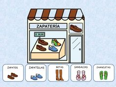 Las TIENDAS Paper Doll House, Paper Dolls, Complete Sentences, Montessori Materials, Communication Skills, Bingo, Spanish, Homeschool, Teaching