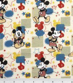 Disney Mickey Comic Burst Flannel Fabric at Joann's