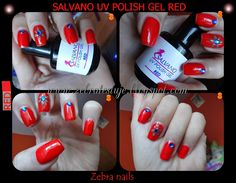 "Zebra Testuje: Lakier hybrydowy żelowy Salvano UV POLISH GEL ""RED... Zebra Nails, Gel Polish, Usb Flash Drive, Red, Gel Nail Varnish, Usb Drive, Polish"
