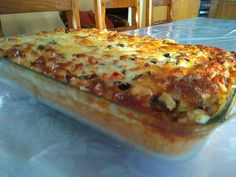 Greek Recipes, Brunch Recipes, Lasagna, Nutella, Quiche, Food And Drink, Vegetarian, Sweets, Bread