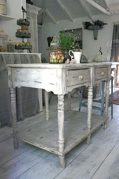 THE perfect shabby kitchen island. ( i have it... I LOVE IT!!!!)