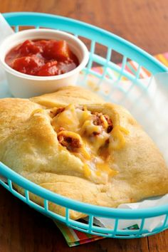Beef and cheese tacos stuffed inside of crescent rolls!